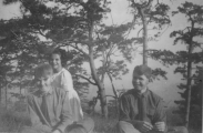 <h5>Two friends and Senn Ballou in the Phillipines</h5>