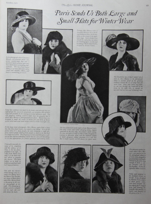 Fashionable hats from 1921