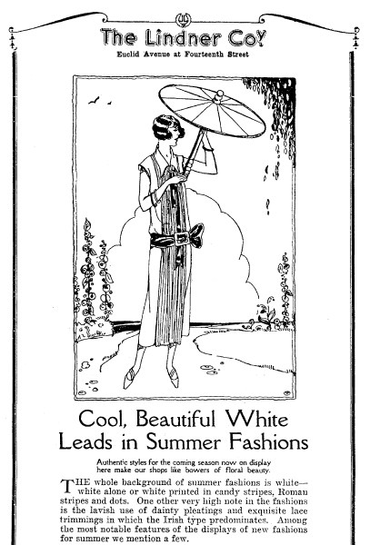 Example of newspaper fashion illustration from 1924
